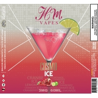Cosmo Ice Salted Nicotine By HM Vapes